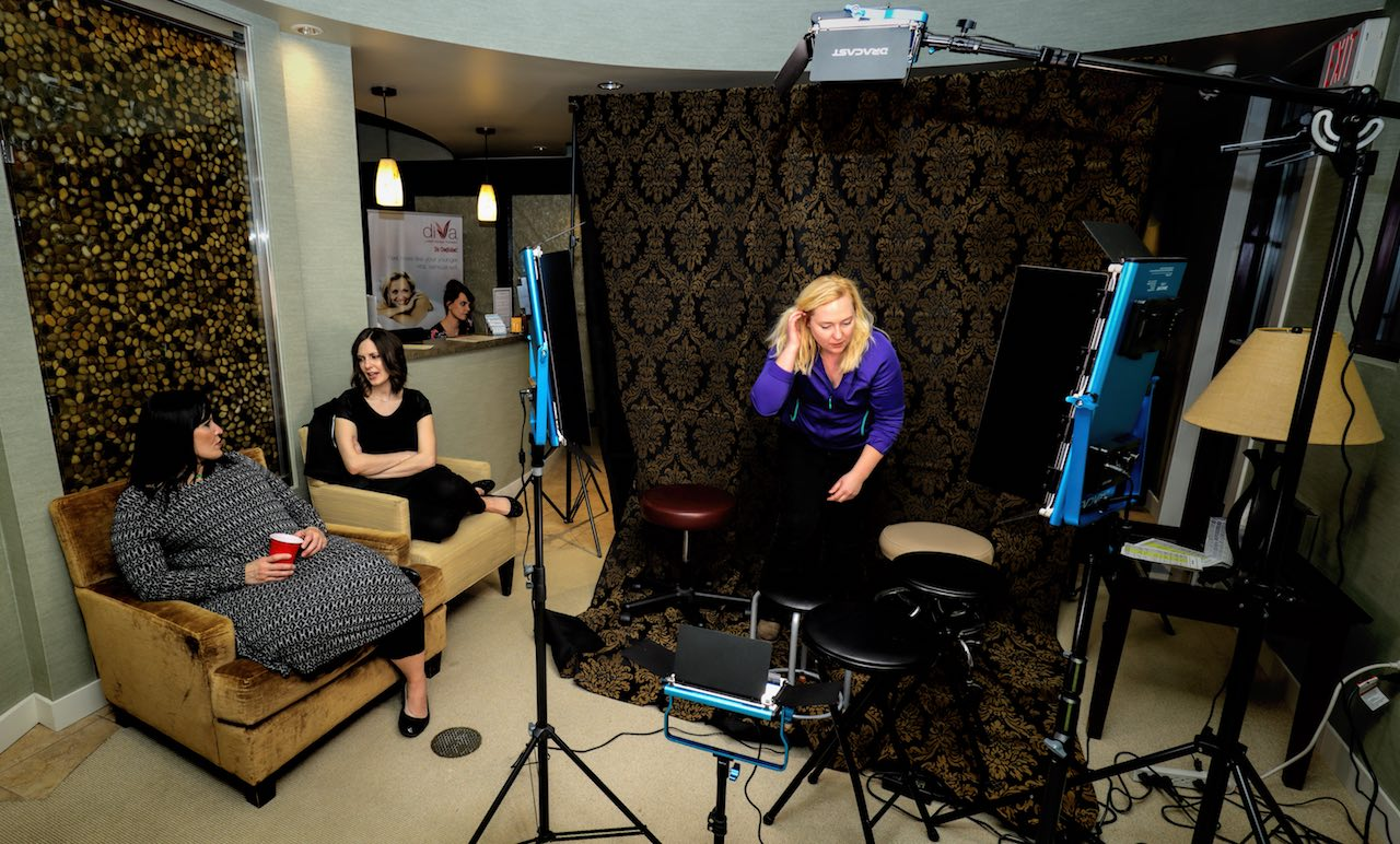 Portrait setup with Dracast Silver Series LED 500 and LED 1000 lights at Refine MD in Menasha, Wisconsin